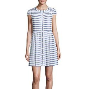 Alice + Olivia Blue & White Striped Dress